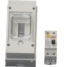 Plastic IP55 Electrical Enclosure with Hinged Clear Lid for MCB or RCD